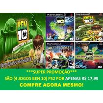 Ben 10 Para Playstation 2 (kit 4 Jogos Ps2 Infantil