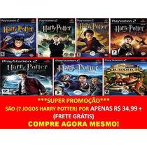Harry Potter Para Playstation 2 (kit 7 Jogos Ps2 Frete Gráti