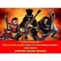 Guitar Hero Ps2 (kit 10 Jogos) Guitar Hero Play 2 (promoção)