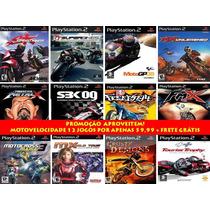 Motocross Para Playstation 2 Kit 12 Jogos Ps2 Motovelocidade