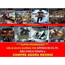 Coleção Call Of Duty Playstation 2 (kit 8 Jogos Ps2 Guerra