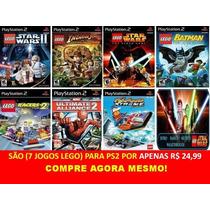 Coleção Lego E Marvel Para Playstation 2 (kit 7 Jogos Ps2