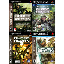 Ghost Recon Para Ps2 (kit 4 Jogos Guerra Play 2 Tom Clancy