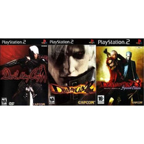 Devil May Cry Ps2 (kit 3 Games Play 2 (frete Grátis)