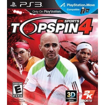 Top Spin 4, Playstation 3 - Codigo Psn !!!!