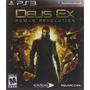 Deus Ex: Human Revolution - Ps3 Original Novo & Lacrado!