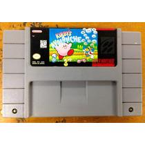 Fita De Super Nintendo Original Kirby Avalanche