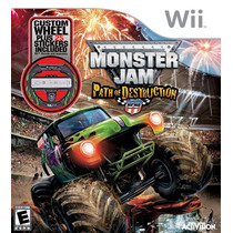 Monster Jam Path Of Destruction Bundle - Wii