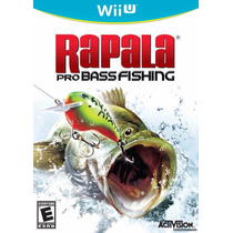 Rapala Pro Bass Fishing Wii U Novo E Lacrado No Box