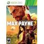 Max Payne 3 Xbox 360 Dvd