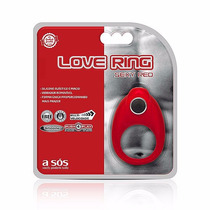 Anel Vibratório Love Ring Sexy Red - Shopsensual Sex Shop