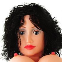 Boneca Inflável Com Cabelos Morenos - Toy Sexshop - 4591