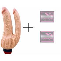 Pinto Penis Vibrador Duplo Dupla Penetração Anal Vaginal