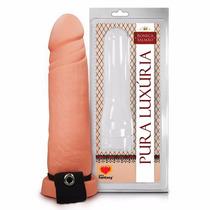 Capa Peniana Extensora Com Cinta Penis 20 X 5 Cm + Lubrigel