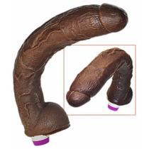 Pênis Gigante 34 X 6 Cm C/ Vibrador Temos Plug, Sex Shop Sp