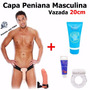 Capa Peniana 22cm Cinta + Anel Pênis + Lubrificante Pinto