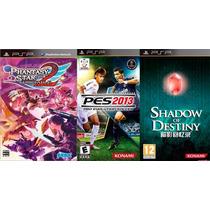 Combo Jogos Pes 2013+shadow Of Destiny+phantasy Star 2 Psp