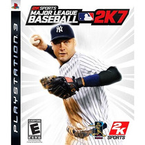 Jogo Ps3 - Major League Baseball 2k7 (eua/original/leia!)