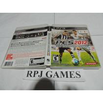 Pes 2012 Pro Evolution Soccer Original C Caixa Manual P/ Ps3