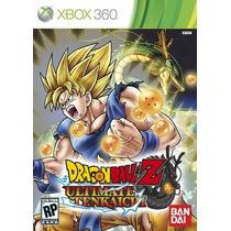 Dragon Ball Ultimate Tenkaichi Mídia Física Xbox 360