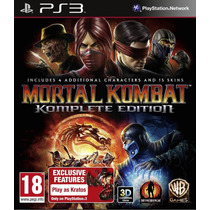 Mortal Kombat: Komplete Edition - Ps3 - R1 - Lacrado