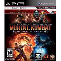 Mortal Kombat 9 Komplete Edition - Playstation 3 - Em Disco.