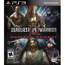 Game Ps3 Deadliest Warrior: Ancient Combat
