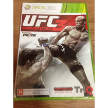 Ufc Undisputed 3 - Xbox 360 - Lacrado - Leg Portugues Brasil