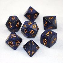 Kit De 7 Dados De Rpg ¿ Chessex - Speckled Golden Cobalt