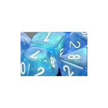 Conjunto Chessex De 7 Dados Borealis Sky Blue P/ Rpg D&d