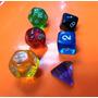 Dados R P G 6 Peças Novas D4,d6,d8,d10,d12 E D20 *coloridos