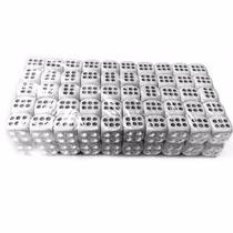 Dados Rpg Kit Conjunto Com 125 Pç Brancos 6 Faces Jogos 14mm