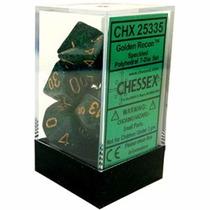 Kit De 7 Dados De Rpg ¿ Chessex - Speckled Golden Recon