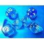 Dados De Rpg, Conjunto Com 7 Peças Azuis, Peças Novas