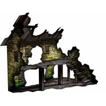 Cenário - Chalé Em Ruinas P/ Wargame, Rpg, Tabuleiro, Etc...