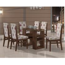 Conjunto De Mesa Com 6 Cadeiras 100% Mdf Copa - Sala Jantar