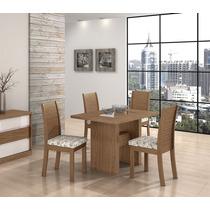 Conjunto De Mesa Mdf Com 4 Cadeiras Sâmara New - Sala Jantar