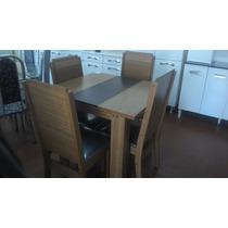 Mesa De Jantar 4 Cadeiras Olímpia 80x90 (somente Rj)