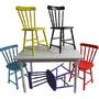 Conjunto De Mesa Torneada Com 6 Cadeiras Country Conceito