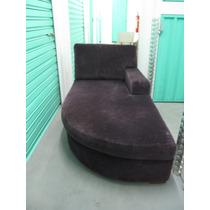Chaise Longue Em Veludo Roxo Artefacto
