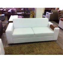 Sofa Corino 3 Lugares Branco Ou Preto . Direto Da Fabrica