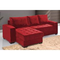 Sofá 2 Lugares + Chaise Em Tecido Animalle Lr ( Somente Rj)