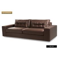 Sofa 2 Lug Below Novo Couro Ecologico