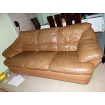 Sofa Em Couro 2 E 3 Lugares - Excelente Para Reforma