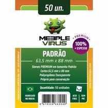 Sleeves Meeple Virus 63,5 X 88 Mm Pac C/50 (premium Padrão)