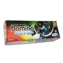 Jogo Tabuleiro Domino Peças Em Madeira Coloridas Xalingo