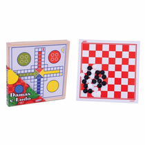 Jogo De Tabuleiro 2 Em 1 - Damas E Ludo - Xalingo