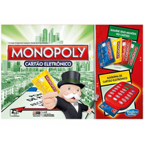 Jogo Monopoly Cartão Eletrônico Hasbro