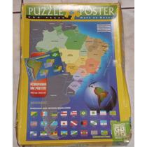 Quebra Cabeça Puzzle - Mapa Do Brasil - Grow - Completo