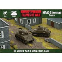 M4a3 Sherman Tanks - Expansão Jogo Flames Of War Battlefront